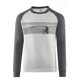 PEARL iZUMi Sweat-shirt manches longues à col ras-du-cou Homme, landscape bike black/grey